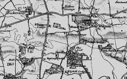 Old map of Wighill Lodge in 1898