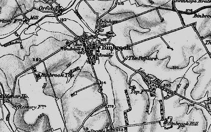 Old map of Binbrook in 1899