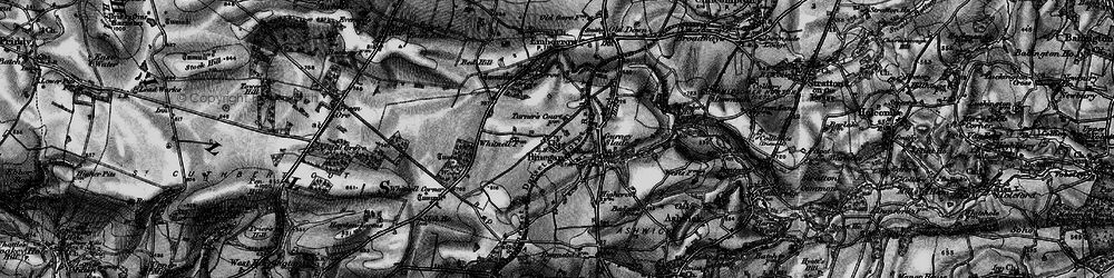 Old map of Whitnell Ho in 1898