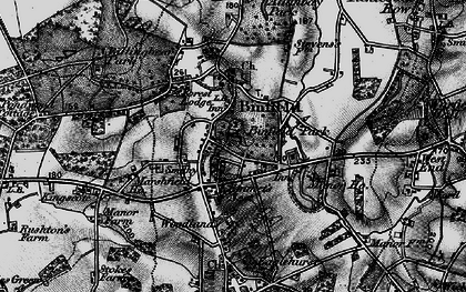 Old map of Binfield in 1895