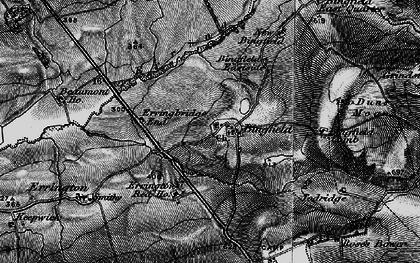 Old map of Todridge Fell in 1897