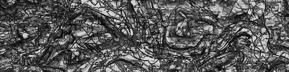 Old map of Bingley in 1898