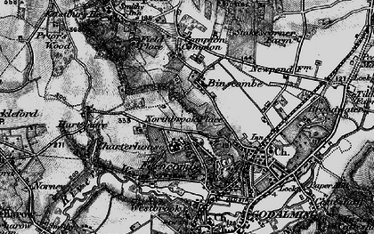 Old map of Binscombe in 1896