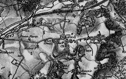 Old map of Binsted in 1895