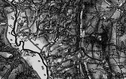 Old map of Woodbury Hill in 1898
