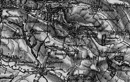 Old map of Toot Hill in 1897