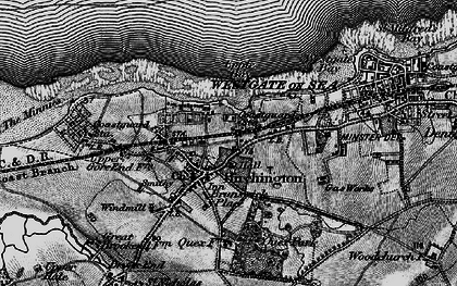 Old map of Birchington in 1894