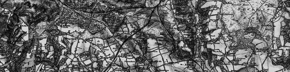 Old map of Widden Bottom in 1895