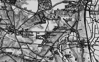Old map of Bircotes in 1895