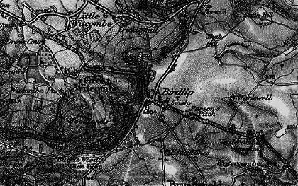 Old map of Birdlip in 1896