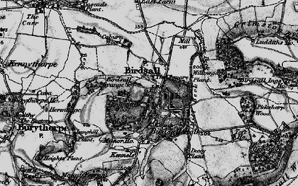 Old map of Langhill Wood in 1898