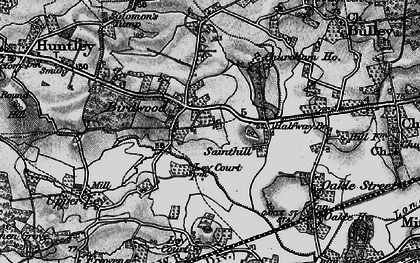 Old map of Birdwood in 1896
