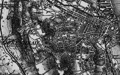 Old map of Birkenhead in 1896