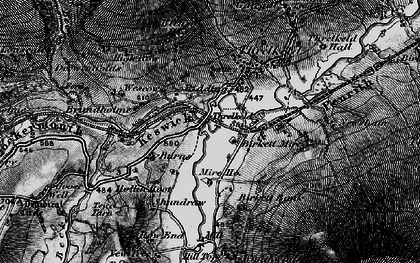 Old map of White Pike in 1897
