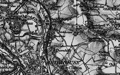 Old map of Woolrow in 1896