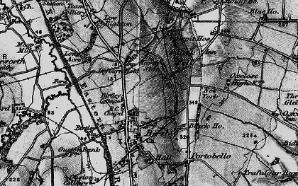 Old map of Birtley in 1898