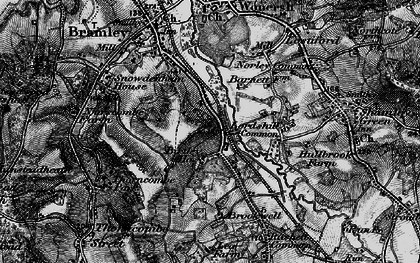 Old map of Birtley Green in 1896