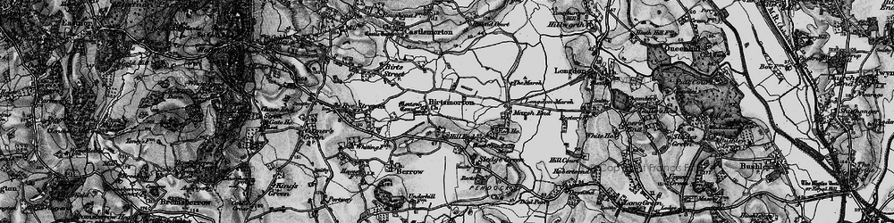 Old map of Birtsmorton in 1898