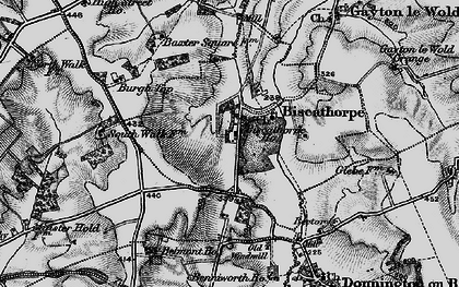 Old map of Biscathorpe in 1899
