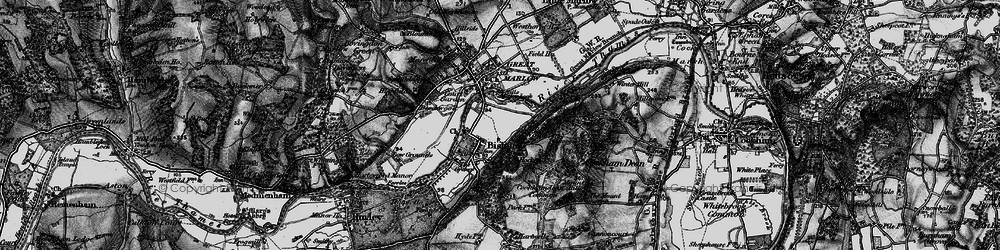 Old map of Bisham in 1895