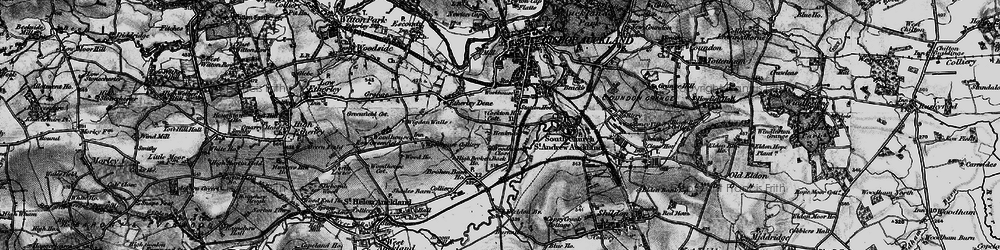 Old map of Bishop Auckland in 1897