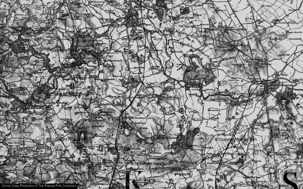 Old Map of Bishop Monkton, 1898 in 1898