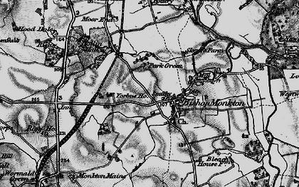 Old map of Yorbus Grange in 1898