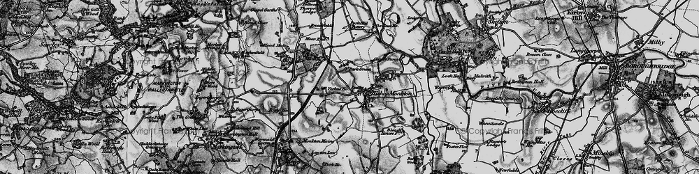 Old map of Bishop Monkton in 1898