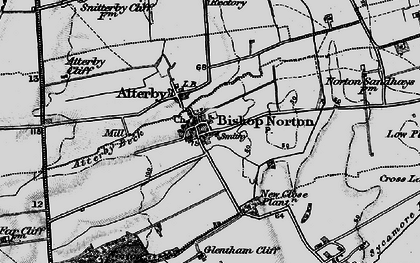 Old map of Atterby Beck in 1898