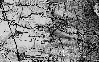 Old map of Bishop's Cleeve in 1896