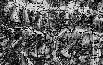 Old map of Aldern Bridge Ho in 1895