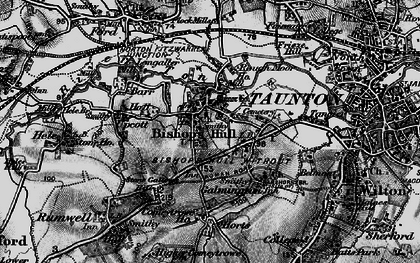 Old map of Bishop's Hull in 1898