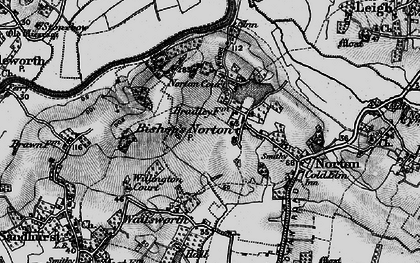 Old map of Bishop's Norton in 1896