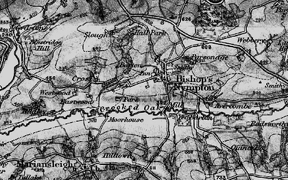 Old map of Avercombe in 1898