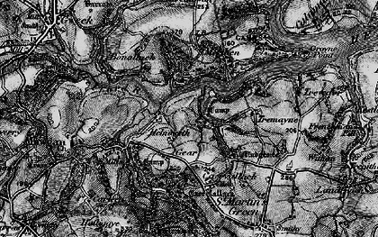 Old map of Bishop's Quay in 1895