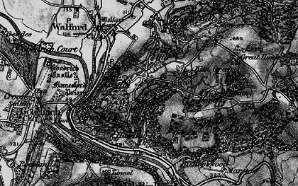 Old map of Bishop's Wood in 1896