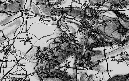 Old map of Bishop Sutton in 1898
