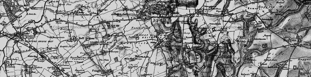 Old map of Bishop Wilton in 1898