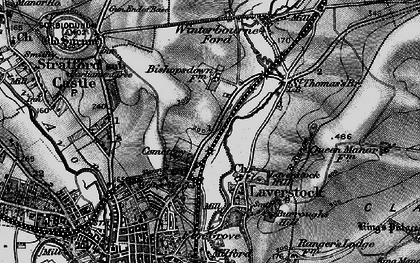 Old map of Bishopdown in 1895