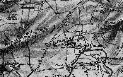 Old map of Bishops Cannings in 1898