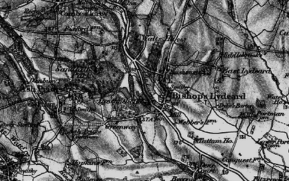 Old map of Bishops Lydeard in 1898