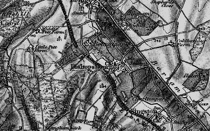 Old map of Bishopsbourne in 1895