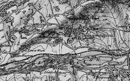 Old map of Bishopsteignton in 1898