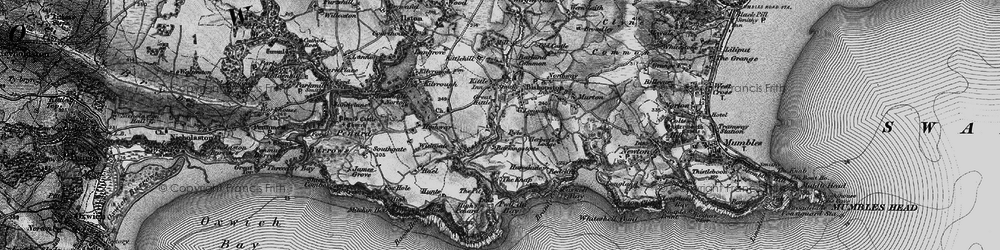 Old map of Bishopston in 1897