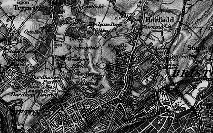 Old map of Bishopston in 1898
