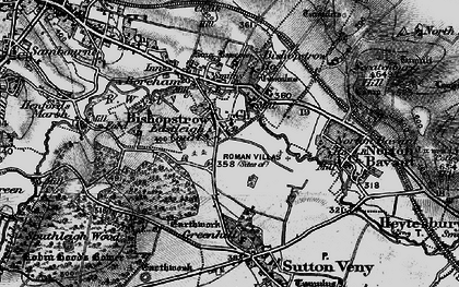 Old map of Bishopstrow in 1898