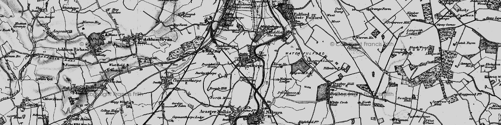 Old map of Acres Ho in 1898