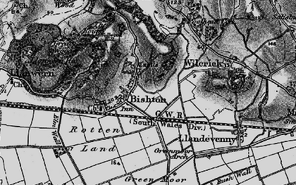 Old map of Bishton in 1897
