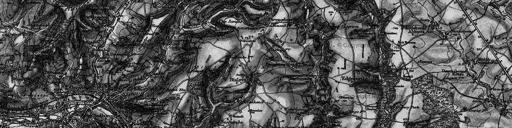 Old map of Bisley in 1896