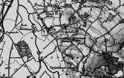 Old map of Bispham Green in 1896